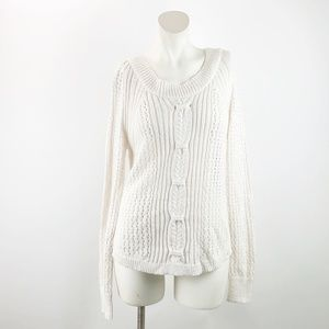Maurices Ivory Cableknit Pullover Sweater